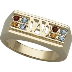 Dad Family Birthstone Ring