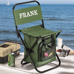fishing cooler chair anti gravity tray personalized findgift com
