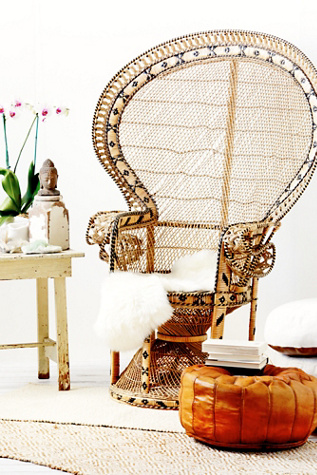 vintage peacock chair rocking chairs with ottoman 70s sold at free people clothing