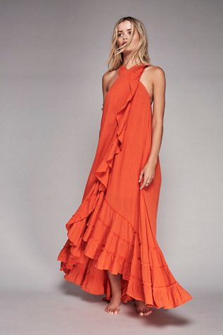 Free People Wrap around Maxi Dress