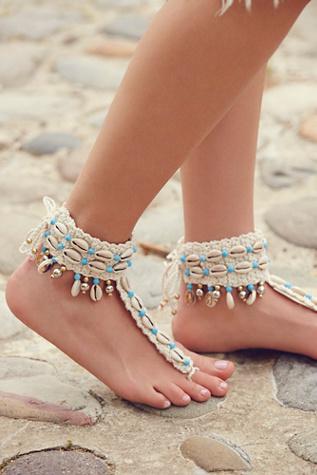 Sea Shell Barefoot Sandal