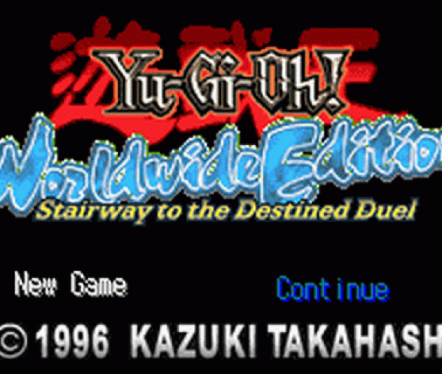 Yu Gi Oh Worldwide Edition Stairway To The Destined Duel Title