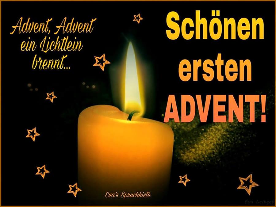 Advent Advent ein Lichtlein brennt Schnen ersten