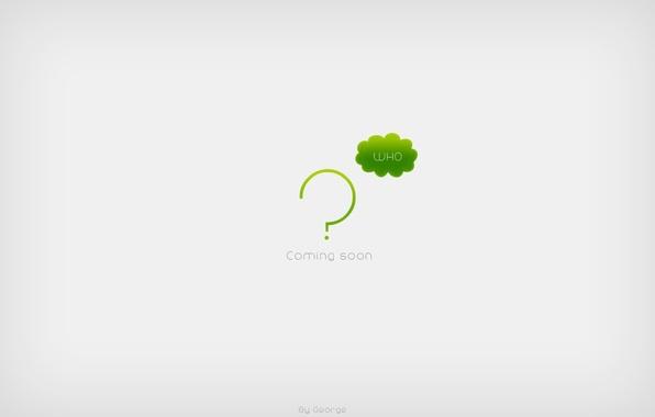 Wallpaper minimalism, waiting, the question mark, soon