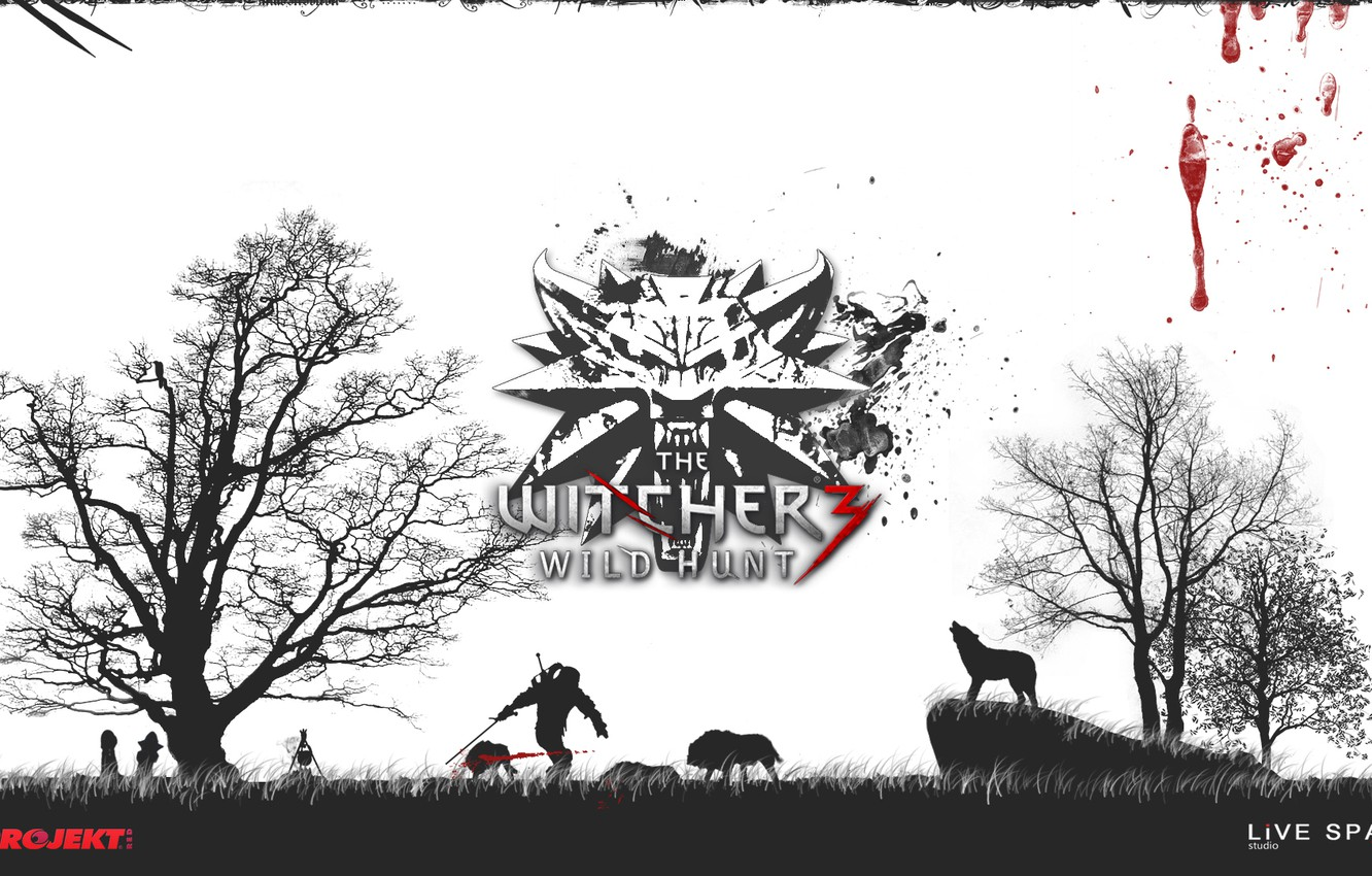 Wallpaper The Witcher 3, LiVE SPACE studio, CD PROJECT RED