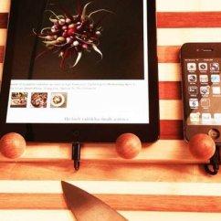Kitchen Work Station Pendant Lighting 竹制厨房工作站亮相可放置电子设备及厨刀 数码 腾讯网