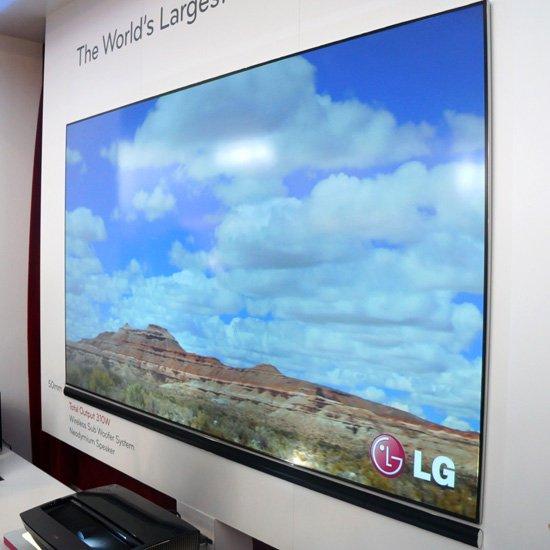 LG展示超短距離100英寸激光高清投影電視_數碼_騰訊網