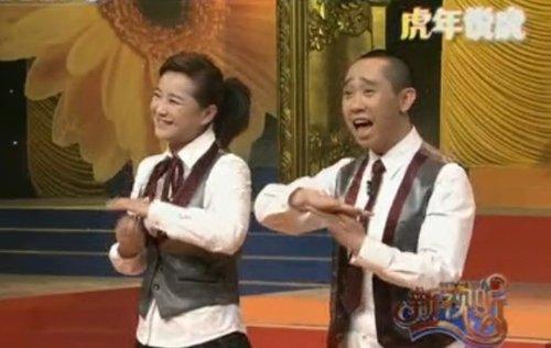 賈玲白凱南做客央視 《新視聽》中調侃小虎隊_娛樂_騰訊網