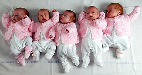 嚇尿!史上最高紀錄10胞胎_大閩網_騰訊網