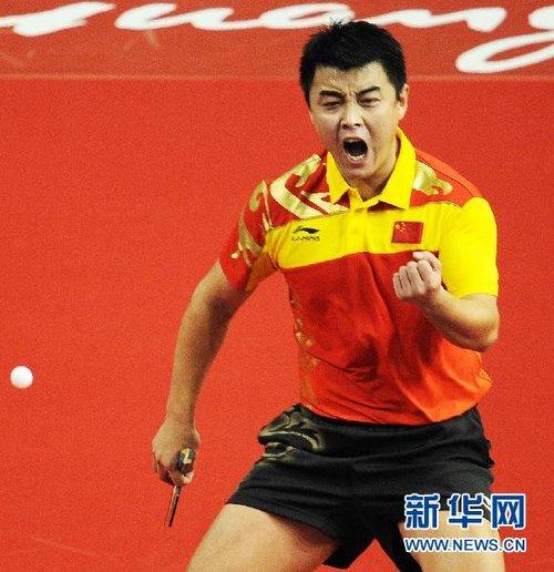 乒乓球:王皓馬龍雙雙挺進男單四強[組圖]_體育_騰訊網