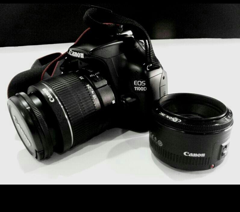 كاميرا canon D1100 مع عدستين