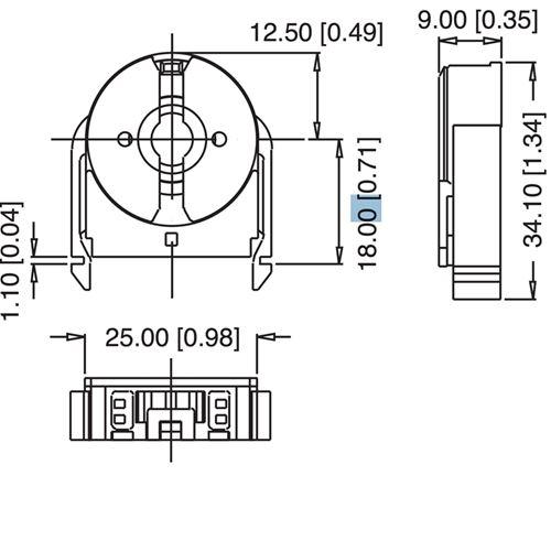 LH1097 Etlin-Daniels FL206-BSI-S, Shunted, T8 only, rotary