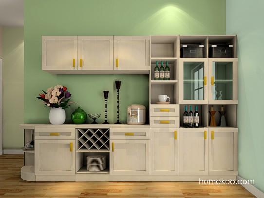 walnut cabinets kitchen cabinet ideas for kitchens 客餐厅装修效果图_科莫湖光家具效果图g21295_尚品宅配