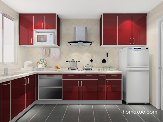 kitchen range hoods remodeling your 厨房橱柜和抽油烟机快速清洁的方法 格瑞丝系列厨房f14380效果图1