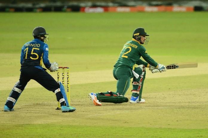 Rassie van der Dussen reverse sweeps, Sri Lanka vs South Africa, 1st ODI, Colombo, September 2, 2021