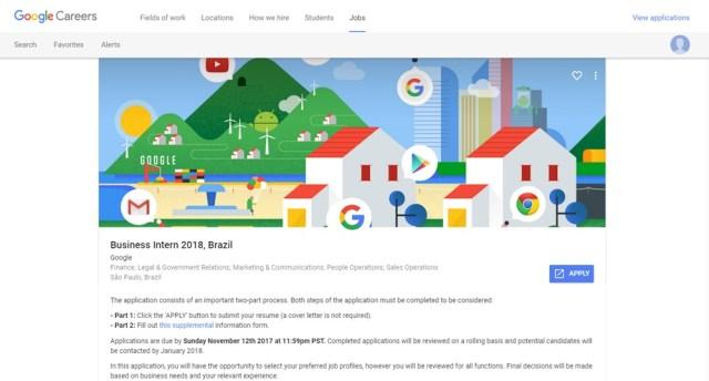 Google Estágio