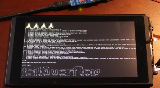 Switch rodando o Linux