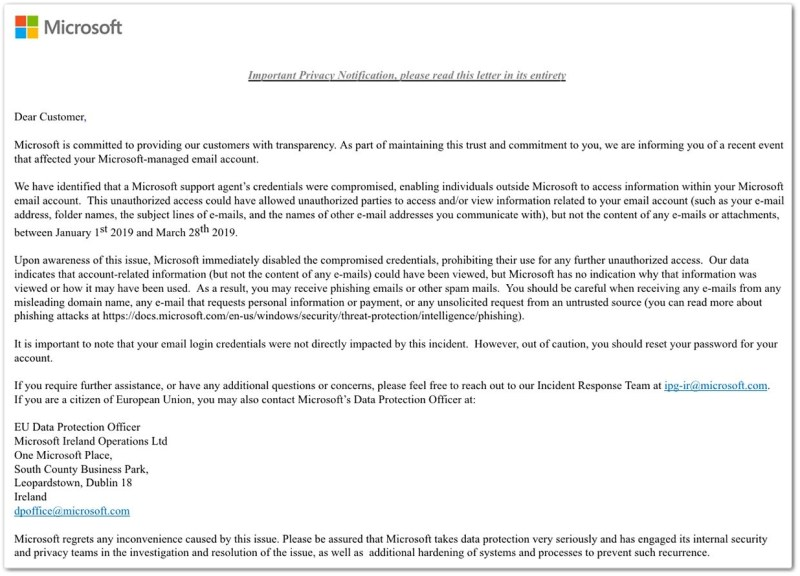 Microsoft Outlook.com hacked