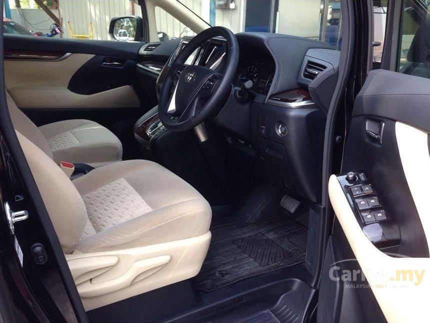 all new vellfire 2015 interior fitur grand avanza 2016 toyota 2 5 za in kuala lumpur automatic van black x beige 8 seater