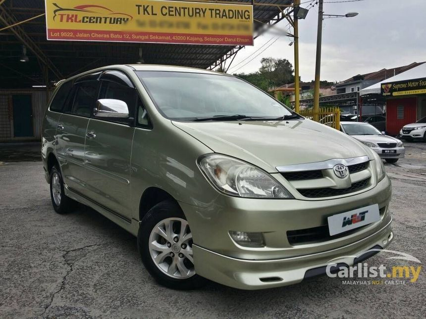 all new kijang innova spec 2.4 v a/t diesel toyota 2007 g 2 0 in selangor automatic mpv green for rm