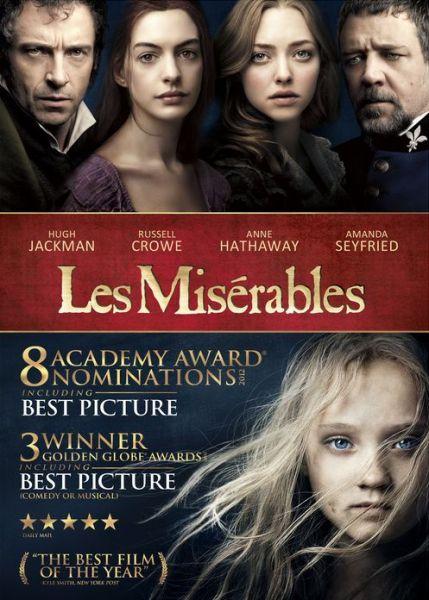 DVD cover for Les Misérables