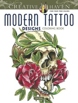 Creative Haven Modern Tattoo Designs Coloring Book By Erik