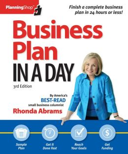 Business Plan in a Day, by Rhonda Abrams