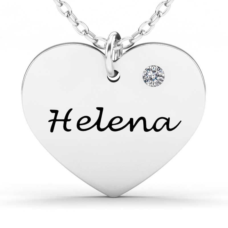 heart sterling silver engravable