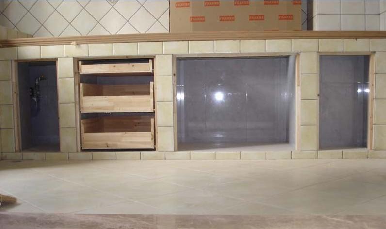cement kitchen sink islands in kitchens 用砖砌橱柜步骤图_图片素材