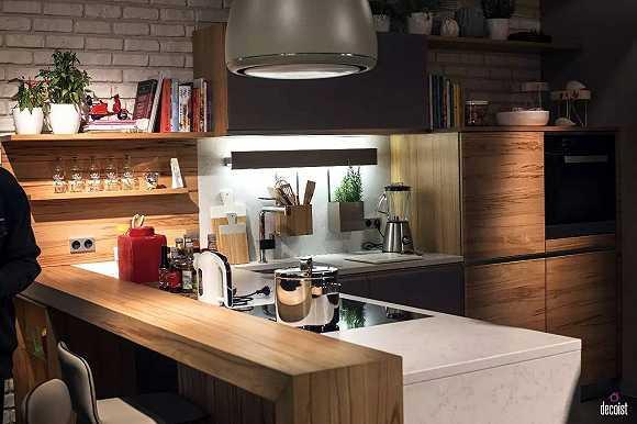 kitchen bar designs cabinets las vegas 20种超创意的开放式厨房吧台设计 哪一个能让你心动 界面新闻 jmedia 小吧台可以用作早餐台 简易餐桌 酒吧台甚至工作台 而简单的木质吧台是其中最简单的呈现方式 不必过分考虑空间风格 厨房材质等 木质属于百搭款
