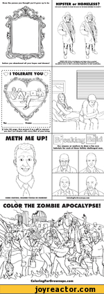 The fun activity sheet for adults / activity sheet / funny