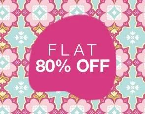Flat 80% Off