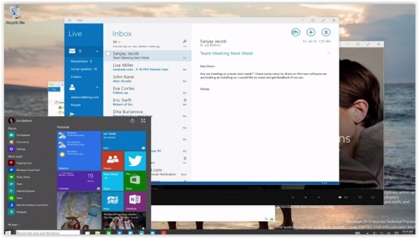 Windows 10 Technical Preview Janvier 2015