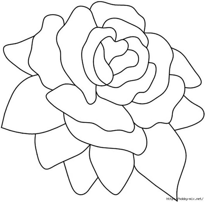Шаблоны для витража, фьюзинга, росписи и т. п. Цветы