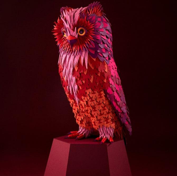 Скульптуры птиц из кусочков кожи: французский арт дуэт Zim&Zou