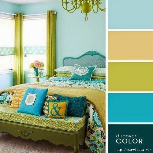 Цветовая гамма - таблицы сочетания цветов в интерьере (2) (500x500, 147Kb)