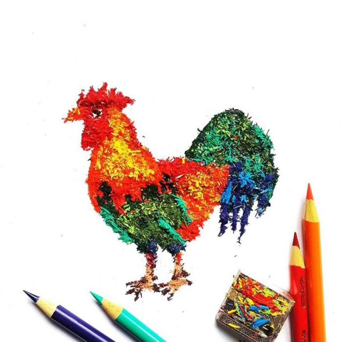 Рисунки карандашной стружкой: проект Меган Маконахи
