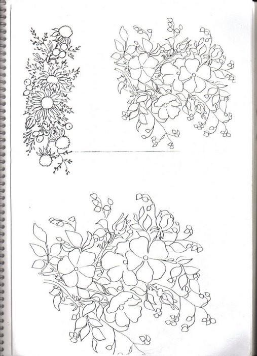Трафареты цветочные. Обсуждение на LiveInternet