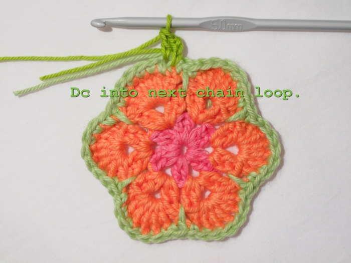 Flower crochet piece AFRICAN FLOWER for knitting toys (59) (700x525, 208Kb)