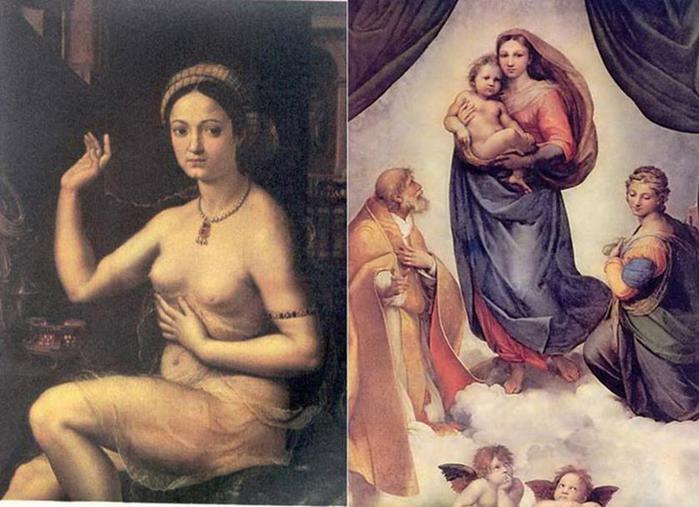На полотне Мадонна, а в жизни   куртизанка: кем на самом деле была муза Рафаэля?