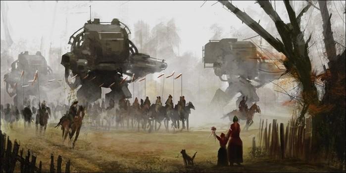 Якуб Розальски: картины эпических битв, на которых встречаются прошлое и будущее