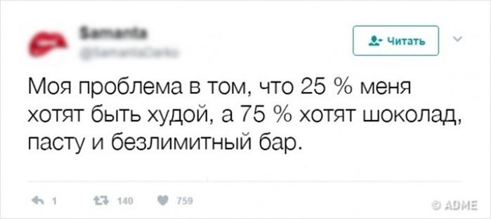 20блестящих твитов отпрофессионалов похудения