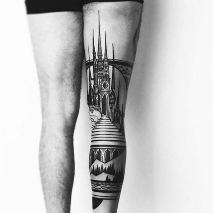 Поразительные архитектурные тату