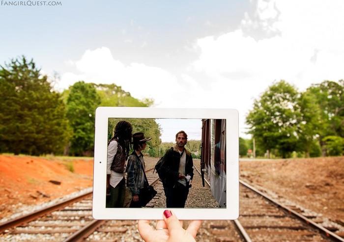 Фотографии с места съемок «Ходячих мертвецов» и других сериалов