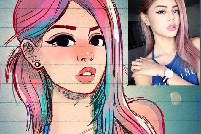 Иллюстратор превращает незнакомцев в крутых мультяшек