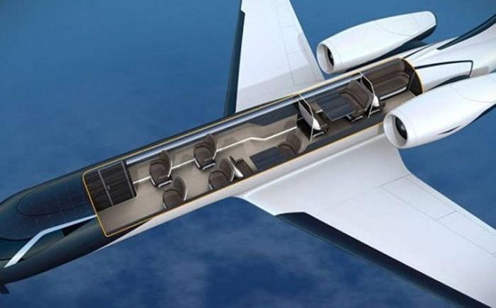 Создан самолет без иллюминаторов! С прозрачными стенами!