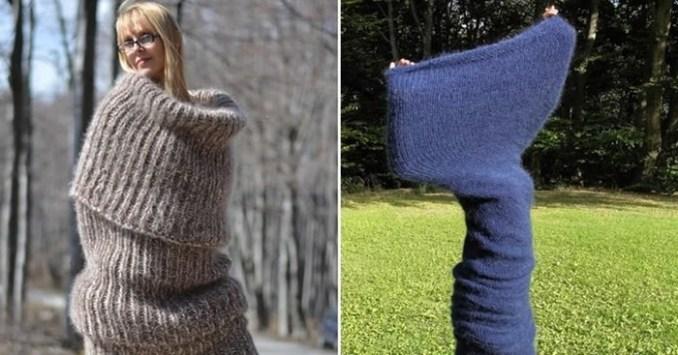 Гигантский шарф предлагает модницам болгарский бренд