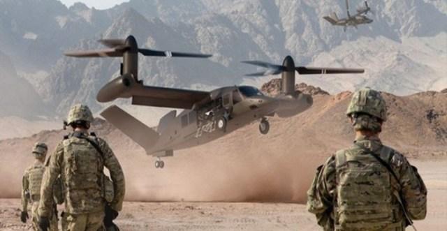 В США впервые подняли в небо боевой конвертоплан будущего