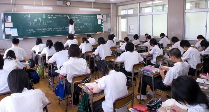 Весьма любопытные факты о японских школах