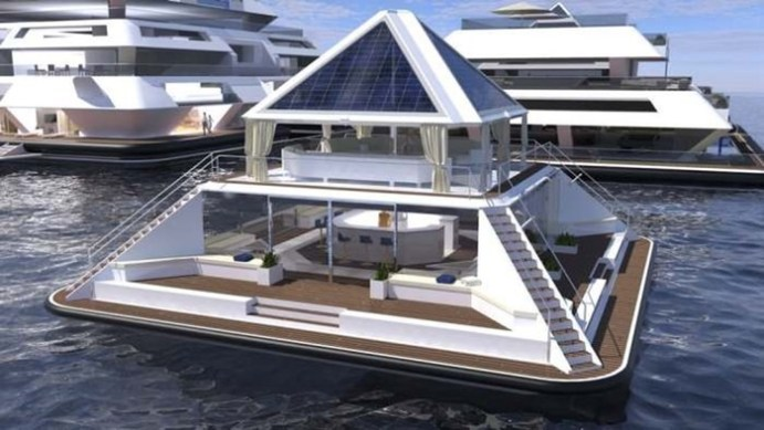 Жилые пирамиды на воде предложил строить итальянский дизайнер